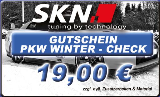Gutschein - PKW Winter Check - bitte drucken und mitbringen